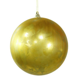 "Vickerman M127628 10"" Antique Gold Foil Finish Ball"